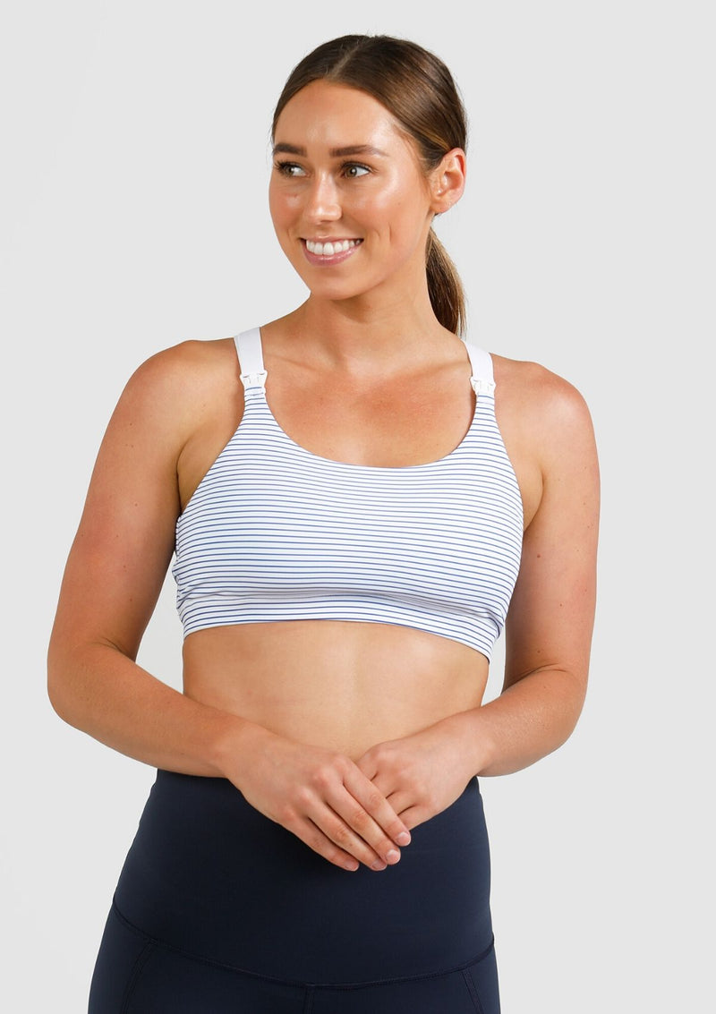 Sienna Nursing Sports Bra (Striped) (5027946561581)