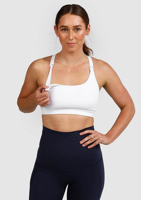 Juliet Sports Bra (White) (5670265127061)