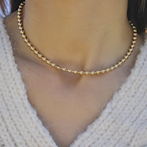 5mm Gold Beaded Necklace