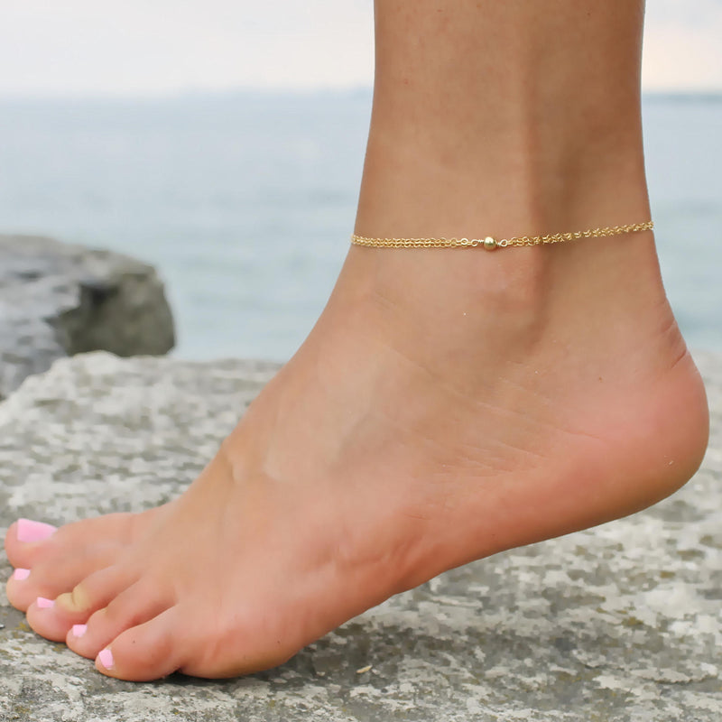 Single Bead Anklet • B006