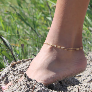 Double Satellite Anklet • B007