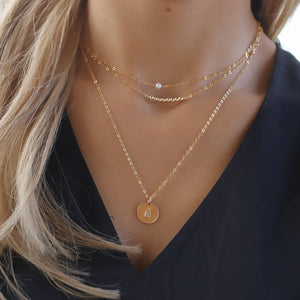 Gold Layered Necklace Set • B103