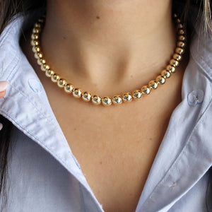 8mm Beaded Chain Necklace • B224