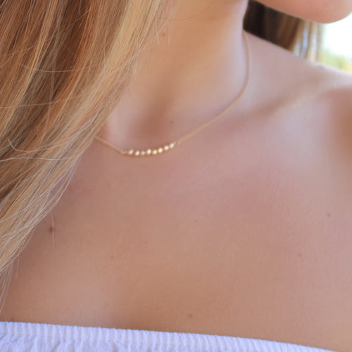 Dainty Beaded Necklace • B138