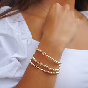 14K Solid Gold Entwined Links Bracelet • B284