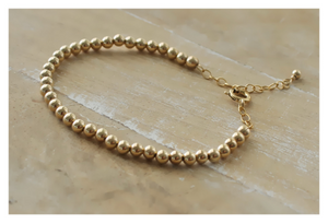 14K Gold Beaded Bracelet • Sterling Beaded Bracelet • 14K Rose Gold Filled Beaded Bracelet • B044