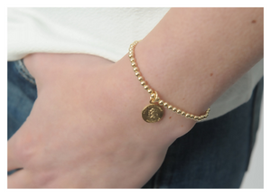 St. Christopher Travel Charm • Gold Bracelet • St. Christopher Bracelet • Sterling Silver • B059