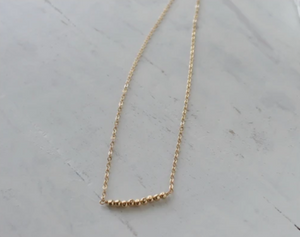Gold Beaded Nugget Necklace • B145
