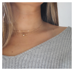 Single Bead Double Choker Necklace • B229