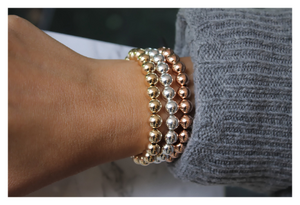 Gold Beaded Ball Bracelet