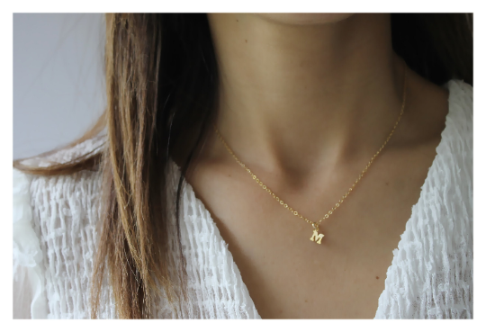 Gold Initial Necklace • B266