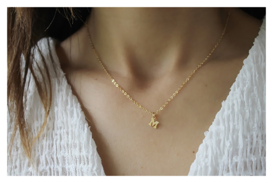 Dainty Letter Necklace • Initial Necklace • 14K Gold Filled Letter Necklace • Gift for Her • B266