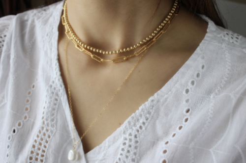 Paperclip Chain Necklace • B275