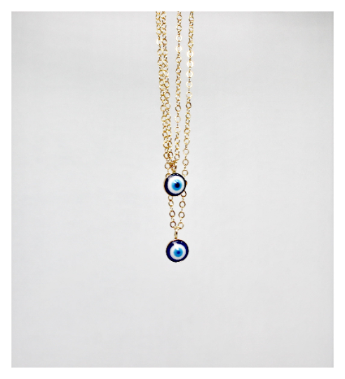 Evil Eye Necklace • Dainty Layered Set • 14K Gold Filled Necklace • Layered Necklace • B276