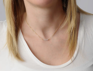 Cubic Zirconia Nugget Necklace • B263