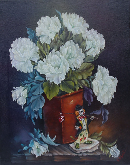 White Roses With Clown