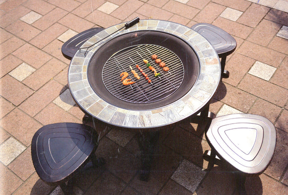 Absolute Family Fan! 8 Pcs Grill  Patio Set