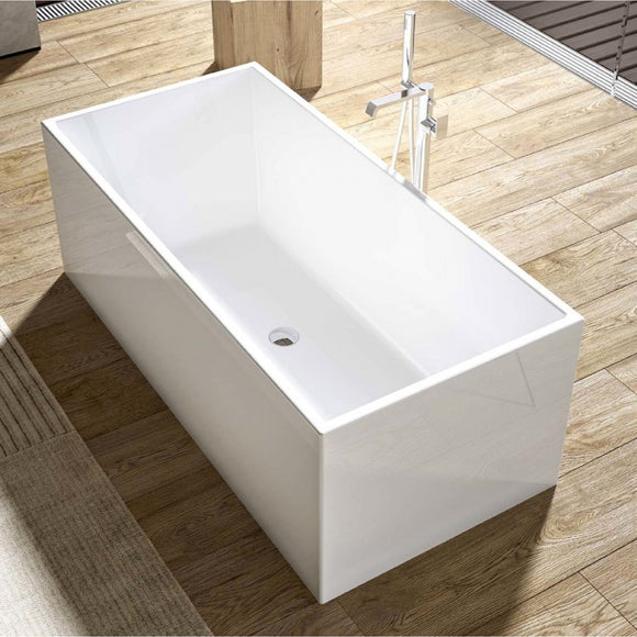 Luxurious Contemporary Design Acrylic Freestanding Soaking Bathtub