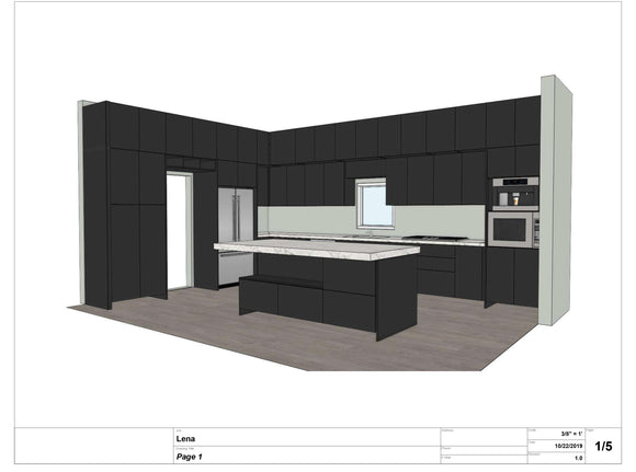 Absolutely Amazing Modern Brand New Black/Brown 3D Marble Kitchen For Big House with High Ceiling &for Modernists