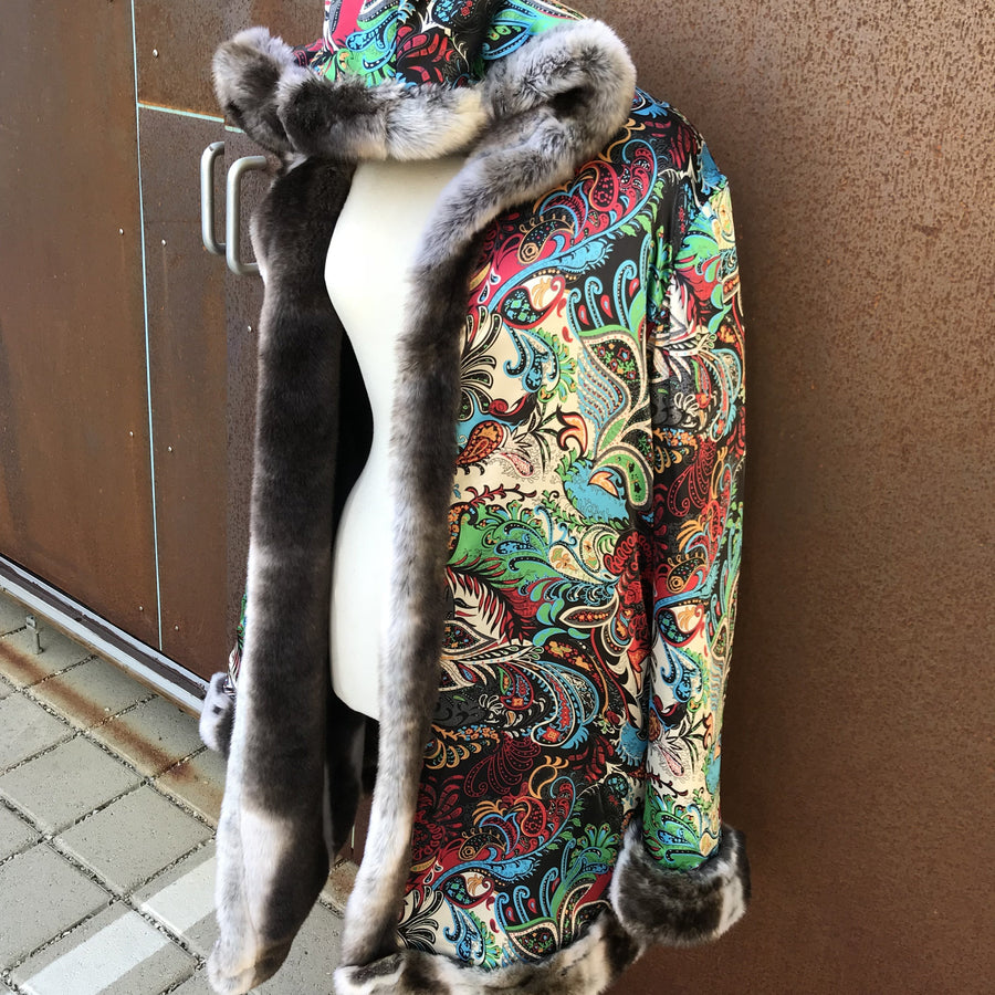 Faux Fur Pimp Coat