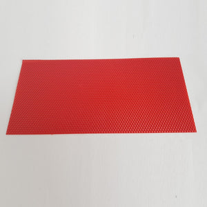 Wax sheets for candle making - Red