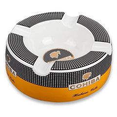 Classical COHIBA Ceramic Round Ashtray - CedarHumidor