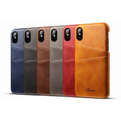 Leather Apple iPhone X Case With Card Cases - CedarHumidor
