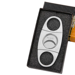 Cohiba Stainless Steel Cigar Cutter with Leather Bag & Gift Box - CedarHumidor