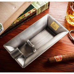 Lubinski Creative Design Metal Ashtray w Gift Box - CedarHumidor