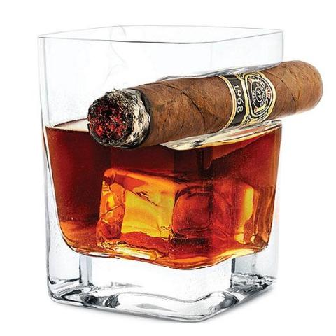 Crystal Whiskey Glass 2 PCS - CedarHumidor