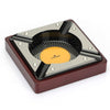 COHIBA Luxury Red Wood Cigar Ashtray 4 Rests - CedarHumidor