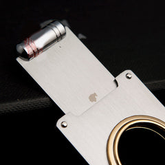 COHIBA One Blade Stainless Steel Gold Plated Cigar Cutter - CedarHumidor