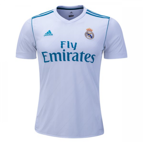 17-18 Real Madrid Home White Soccer Jersey