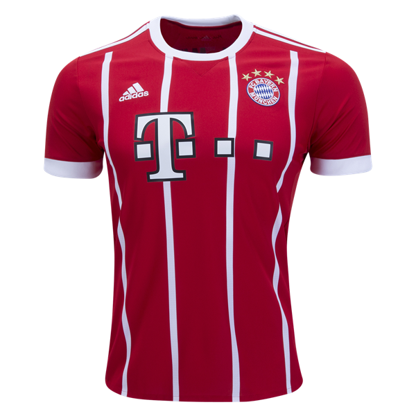 17-18 Bayern Munich Home Red Soccer Jersey Shirt