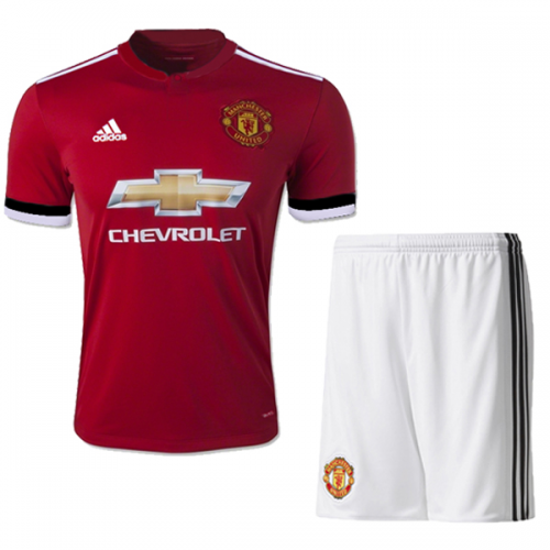 17-18 Manchester United Home Jersey Kit(Shirt+Short)