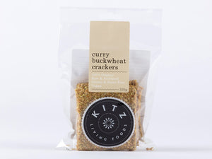 Kitz Living Foods Crackers Curry Buckwheat 100g