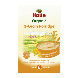 Holle Baby Food Organic 3 Grain Porridge 6+ Months 250g
