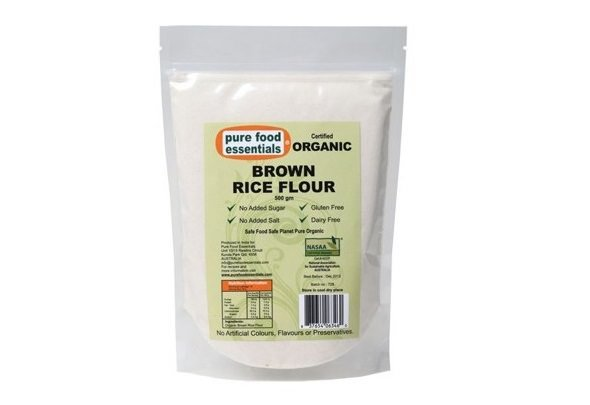 Pure Foods Essentials Organic Brown Rice Flour 500g