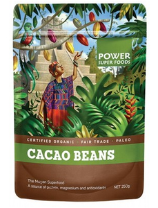 Power Super Foods Organic Cacao Beans 250g