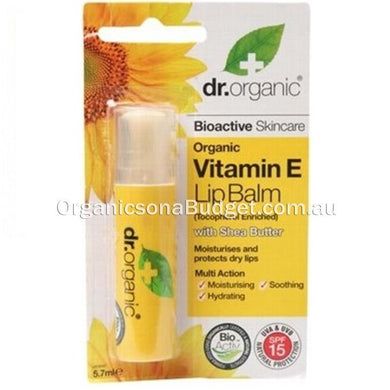 Dr Organic Vitamin E Lip Balm 5.7ml (FREE SHIPPING)