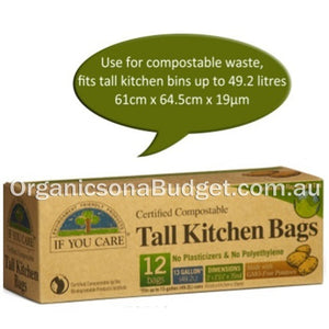If You Care Tall Kitchen Bags 12 Bags