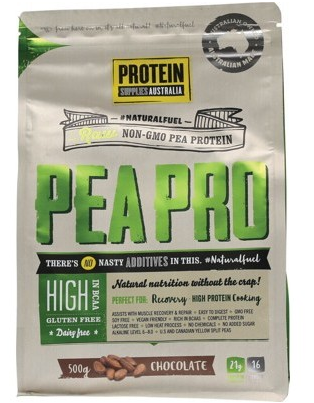 Protein Supplies Australia Pure Pea Protein Isolate Chocolate 500g