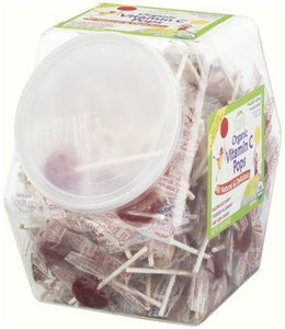 Yummy Earth Organic Lollipops Counter Tub Vitamin C 854g (125+ lollipops)