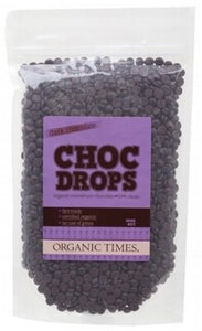 Organic Times Dark Chocolate Couvertre Drops 500g