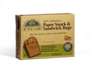 If You Care Paper Sandwich Bags 48 pack 19cmx16.2cmx5.7cm