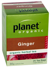 Planet Organic Ginger Herbal Tea 25 bags/30g