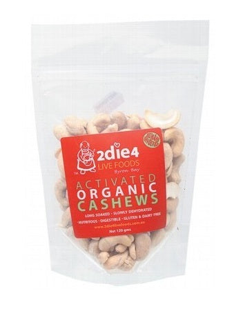 2die4 Live Foods Activated Organic Cashews 120g