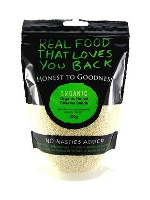 Honest To Goodness Organic Sesame Seeds Hulled 200g