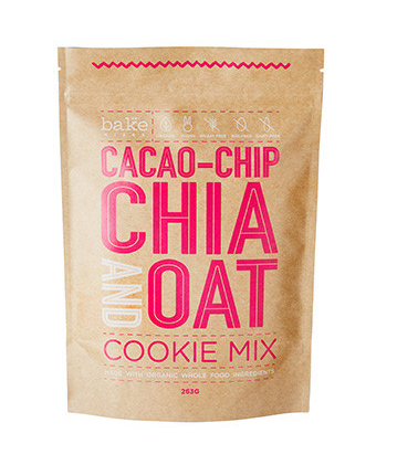 BAKE MIXES Cookie Mix Cacao-Chip Chia and Oat 263g