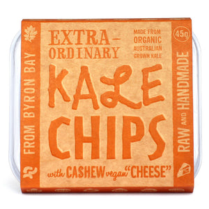 EXTRAORDINARY FOODS Kale Chips with Cashew & Vegan 'Cheese' - 45g